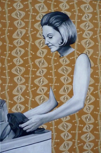 21. Doris with Dryer, 60x40 cm