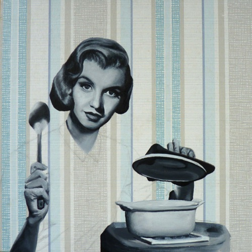 26. Marilyn Cooking, 30x30 cm