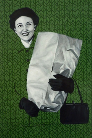 55. Barbara with Shopping Bag, sold
