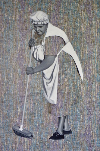 59. Rhonda with Broom, 120x80cm